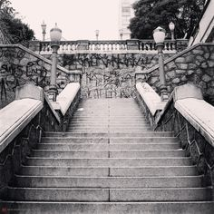 Bixiga's stairway at Bela Vista district - Sao Paulo / Brazil