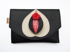 Vulvette in black, cream and blood red by Ampule on Etsy