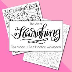 Flourishing Tips and Free Practice Worksheet Set