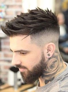 Thick Spiky Hair Fade - Best Men's Hairstyles: Cool Haircuts For Men. Most Popular Short, Medium and Long Hairstyles For Guys hair styles for men Good Haircuts For Men Stylish Haircuts, Cool Haircuts, Haircuts For Men, Hairstyles Haircuts, Men Haircut Short, Short Haircuts, Mens Fade Haircut, Barber Haircuts, Spiky Haircut