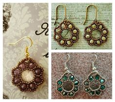 Free Beading Tutorial: Flora Earrings from Linda's Crafty Inspirations featured in recent Bead-Patterns.com Newsletter!