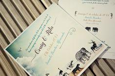 Fun Animal Wedding Invitation http://www.mariannetaylorphotography.co.uk/