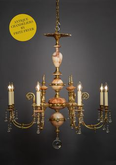 Circa 1860 this English carved Alabaster chandelier was originally gas powered, fully restored on site by our skilled team. Antique Lanterns, Antique Chandelier, Modern Chandelier, Funky Lighting, Art Deco Lighting, Lighting Ideas, Victorian Lighting, Antique Lighting, Art Nouveau