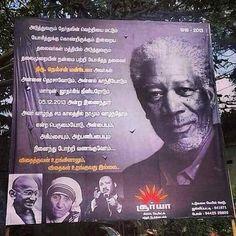 Billboard honouring Nelson Mandela has a picture of Morgan Freeman.... #fail #epicfail #India