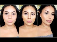 How To DRUGSTORE Contour & Highlight Using Affordable Makeup Brushes | juicyyyyjas - YouTube
