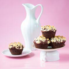 Schokoladen-Muffins mit Streuseln vegan
