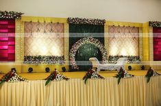 Photo by Eventz By Vaishnave on October Marriage Hall Decoration, Wedding Hall Decorations, Backdrop Decorations, Backdrops, Decor Wedding, Flower Decorations, Wedding Cards, Wedding Ideas, Wedding Backdrop Design