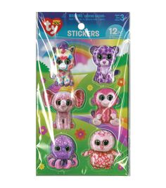 The cute and fun Darice Beanie Boo 12pcs 3D Stickers-Girl are perfect for any craft or paper project. You can pick from the colorful assortment of themed stickers and use them on paper or other art me