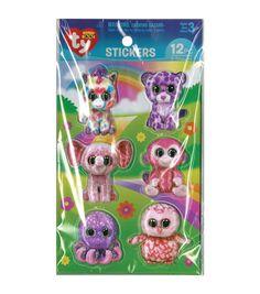 Darice® Beanie Boo 12pcs 3D Stickers-Girl
