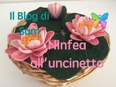 Il Blog di Sam: Spiegazione della Ninfea all'uncinetto