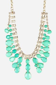 Luxe Minty Bib Necklace