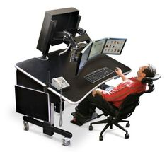 tilt stand up desk  sc 1 st  Pinterest & PC desk that can desk work on recliner chairs (keyboard and mouse ... islam-shia.org