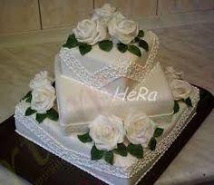 Výsledek obrázku pro svatební dorty dvoupatrové