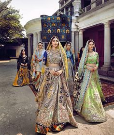 """De Marièe"" Collection 17 by Ali Xeeshan 💚💛 is so lush"