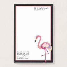 business watercolor flamingo postit notes