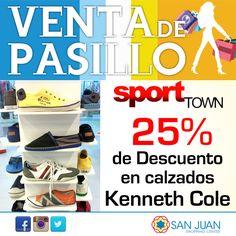 VENTA DE PASILLO 17-18 y 19 de Octubre en #sanjuanshoppingcenter Sport Town tendra: 25% de Descuento en Calzados Kennet Cole #bavaro #puntacana #ventadepasillosjsc #vasaquererllevartelotodo