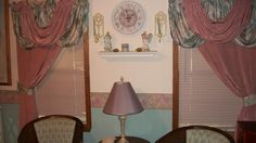 Curtains and valances I made for my living room.