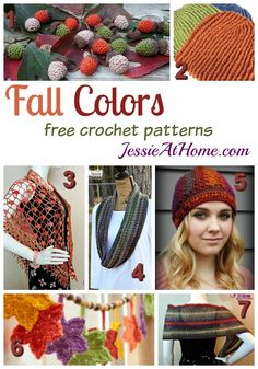 Roundup: 7 free crochet patterns in fall colors, curated by Jessie At Home | Fall in love with these free patterns featuring the colors of fall. Is there one from your favorite designer in here?