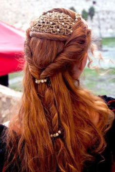 Borgias style hairstyle