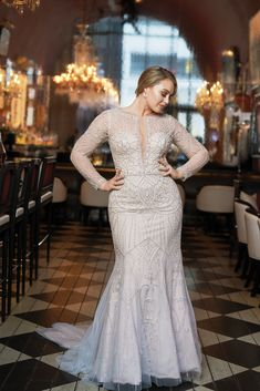 Plus Size Wedding Gowns with Sleeves — Uptown Bride Disney Wedding Dress, Plus Size Wedding Gowns, Plus Size Gowns, Wedding Gowns With Sleeves, Size 12 Wedding Dress, Plus Size Brides, Curvy Bride, Madame, Bridal Dresses