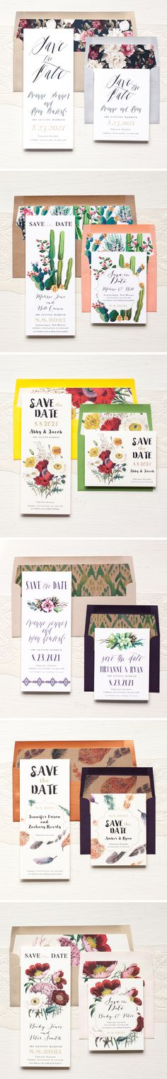 Love the consistency of design across the different pieces.  Floral, Stationary, DIY, Wedding, Invites