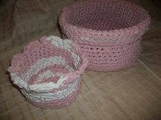 Check out this item in my Etsy shop https://www.etsy.com/listing/263837878/crocheted-rag-rug-baskets-2