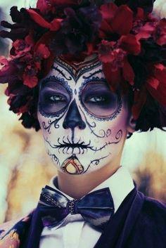 my makeup base for the os tropies show dia de los muertos - Halloween Makeup Professional