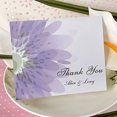 Thank You Card - Shining Lilac (Set of 50) – USD $ 29.99