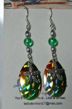 Starfish-Spinner-Blade-Fishing-Lure-Dangling-Artisan-Handmade-fishhook-Earrings