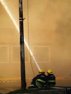 Ishpeming fire department in action.