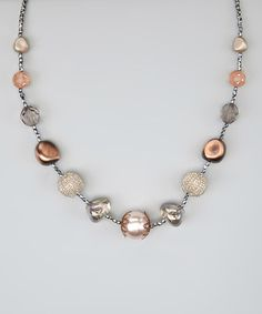 Take a look at this Pink Champagne Bead Necklace by Treska on #zulily today! $14 !!