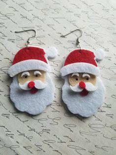 Santa is coming to town! https://www.etsy.com/listing/497118863/santa-claus-earrings-jumbo-earrings