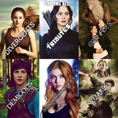 Calling all... DIVERGENTS, TRIBUTES, GRENADES, DEMIGODS, SHADOWHUNTERS, AND WIZARDS. Which are you???