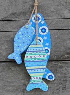 Fish Hanging Decoration - Wood
