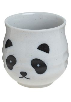 Panda cup! Makes me wish i was still in pottery and could make a whole forest of animal cups.