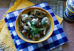 Italian Food Forever » Golden Brown Artichokes Braised in White Wine