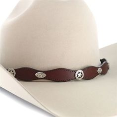 284c254eb73 Cody James® Sheriff Star Concho Leather Hat Band Cowboy Hat Bands