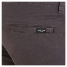 Crafted by Lee Men's Stretch Twill Pants Smoke (Grey) 34x30, Durable
