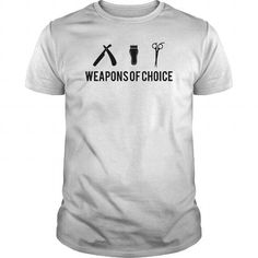 Awesome Tee Barber Weapons T-Shirts