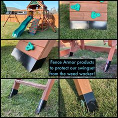 The Pro Series post protectors, like Full Protection, provide a custom fit for both square and rectangular shaped posts. Providing a broader level of protection at 6˝ tall, Pro Series is ideal where ever fences, decks, mailbox, or play equipment posts, are exposed to grass trimmer damage.   Click to read the customer testimonial.  #fencearmor #fenceprotector #swingset #playset #swingsetprotection #playsetprotection #backyardmaintenance #weedtrimmer #woodpost #homeowner #yardmaintenance