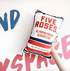 Farine Five Roses Pillow Montreal, Something To Do, Pillows, Rose, House, Kitchens, Pink, Cushion, Roses