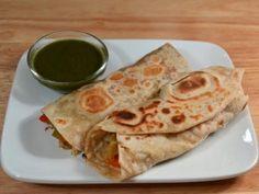 Vegetable Frankie - Kathi Roll - Manjula's Kitchen - Indian Vegetarian Recipes