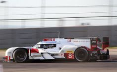 The Audi R18 E-Tron Quattro races at the 2015 Lone Star Le Mans.