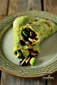 Vegan Black Bean Burrito (Gluten Free) | Gluten Free and Vegan Recipes by Michelle Blackwood