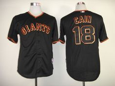 d2cad7a7e San Francisco Giants 18 Matt Cain Black Cool Base