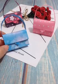 DIY Miniature – Folding Mini Cute Wallet, Backpack, Umbrella Simply For Barbie - Papier-Origami Ideen Diy Home Crafts, Diy Arts And Crafts, Diy Craft Projects, Creative Crafts, Crafts For Kids, Craft Ideas, Creative Ideas, Creative Inspiration, Origami Diy