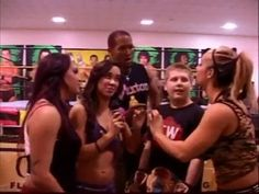 FCW INTERVIEWS WITH FANS AJ Brooks as AJ Lee & Kaitlyn & Byron Saxton,light purple outfit...see on my site on Youtube how my AJ wears proud her hot pink FCW Title while she makes,with Kaitlyn and Byron Saxton,funny interviews with FCW Fans.What's your Name?How old are you?What's your FCW favorite Diva?AJ!!-Yeah...Breathe for me AJ,breathe.-<Marki>-