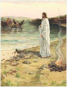 Cristo resucitado y sus discípulos