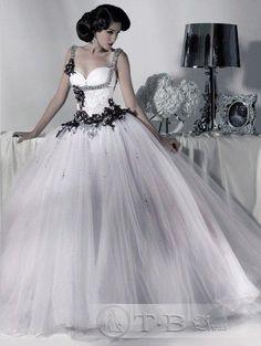 Gorgeous Strapless Sleeveless & Embroidery Beading Ball Gown Wedding Dress