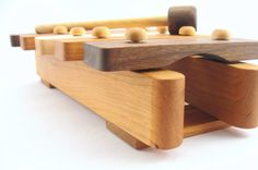 For Noah: natural wooden xylophone toy - handmade musical piece for the montessori baby, earth friendly with homegrown organic finish